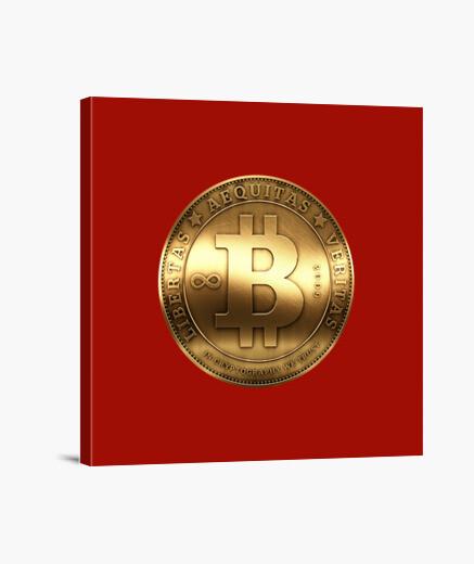 Lienzo Golden Bitcoin
