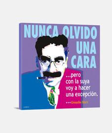Lienzo Groucho Max Nunca
