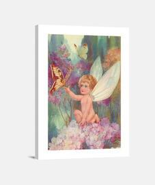 Lienzo Hada y mariposa
