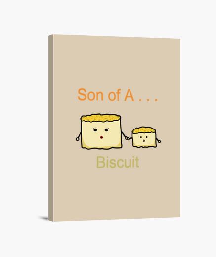 Lienzo hijo de una galleta