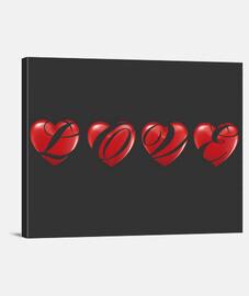 Lienzo Horizontal 40 x 30 Love