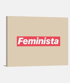 Lienzo Horizontal 4:3 - (40 x 30 cm) Feminista.