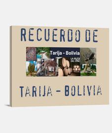 Lienzo Horizontal 4:3 - (40 x 30 cm) recuerdo de Tarija