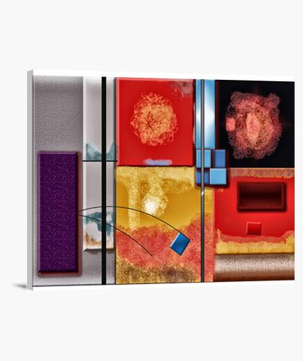 Lienzo Horizontal 4:3 - (40 x 30 cm)COLORES Y LINEAS