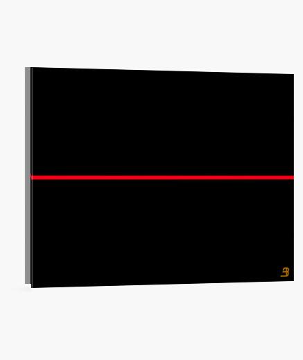Lienzo Horizontal diseño 'Red Line'