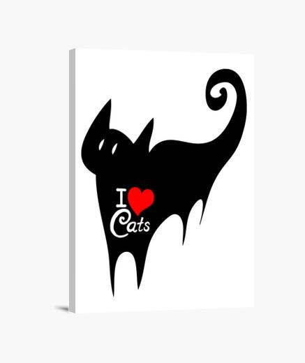 Lienzo I love Cats