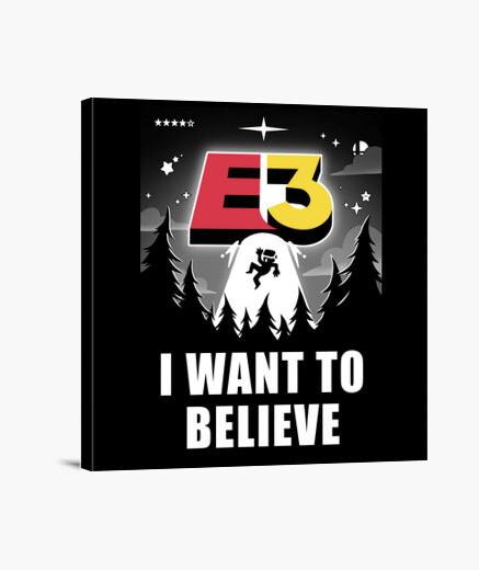 Lienzo I want to believe in E3