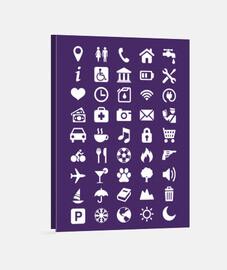 Lienzo Iconos  Viaje - Turismo - Comunicación