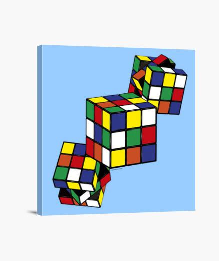 Lienzo Juegos - Cubo Rubik