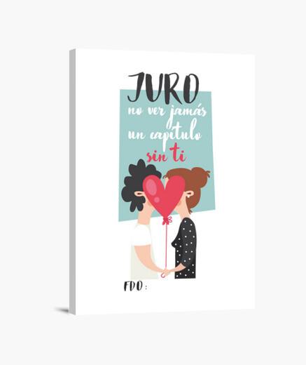 Lienzo JURO NO VER JAMÁS UNA SERIE O...
