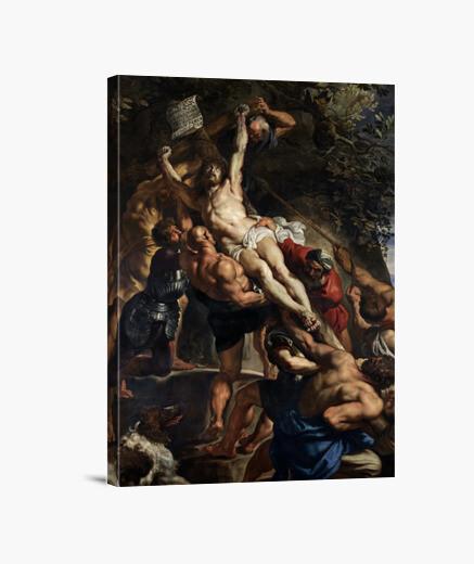 Lienzo La elevación de la cruz (1611)