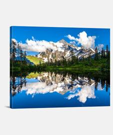 Lienzo Lago & Montaña