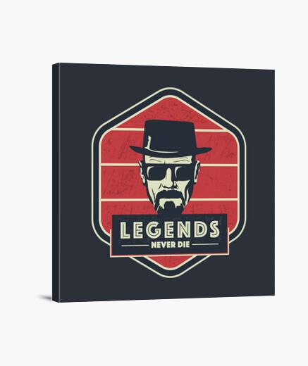 Lienzo las leyendas nunca mueren -...