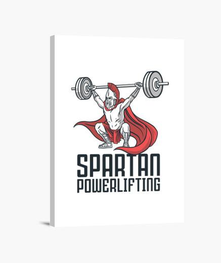 Lienzo levantamiento de pesas espartano