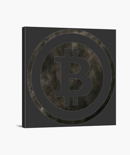 Lienzo Logo B Bitcoin