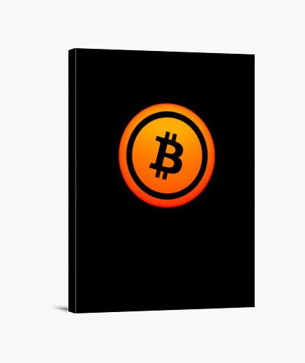 Lienzo logotipo de bitcoin con aspecto de sol
