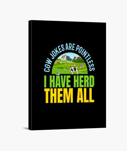Lienzo Los chistes sobre las vacas son...