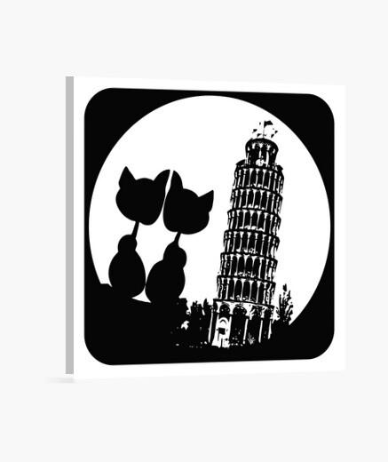 Lienzo MOON LOVE PISA-cat-bn