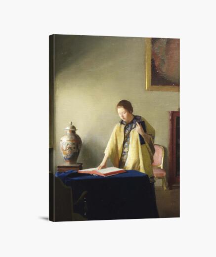 Lienzo Mujer con libro (1909)
