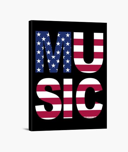 Lienzo MUSIC USA (música EEUU)