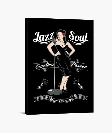 Lienzo Música Jazz Soul New Orleans USA Pin Up Girl