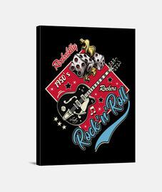 Lienzo Música Rockabilly Vintage Rock and Roll USA Rockers Retro 1950s