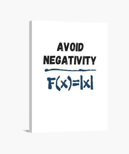 Lienzo negatividad fórmula gracioso...