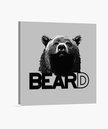 Lienzo oso barbudo