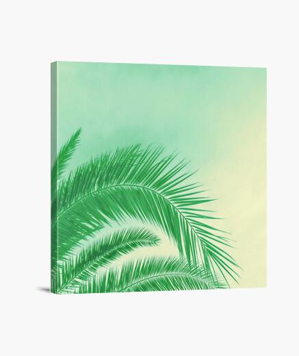 Lienzo palma de la mano - verde