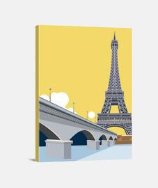 Lienzo París Parisino Art Deco Art Torre Eiffel