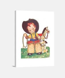 Lienzo Pequeño cowboy