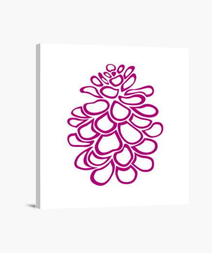 Lienzo piña rosa estilizada