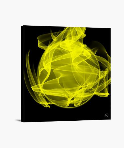 Lienzo Planeta energía amarilla -...