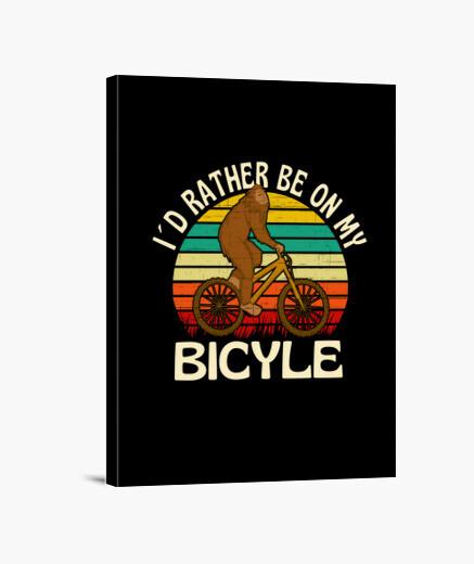 Lienzo Preferiría estar en mi bicicleta