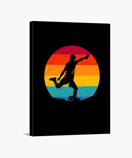 Lienzo regalo de jugador de fútbol retro...