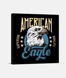Lienzo Retro American Eagle Vintage USA