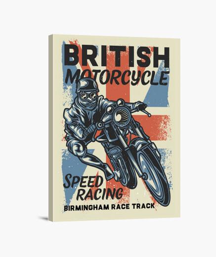 Lienzo Retro British Motorcycle Vintage Biker Motos