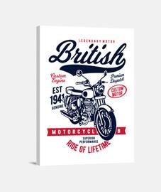 Lienzo Retro British Motorcycles Vintage Moteros Garage Motos