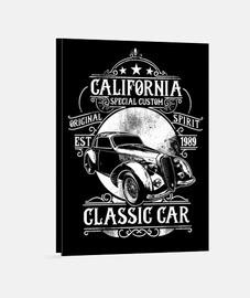 Lienzo Retro California Hotrod Vintage 1989