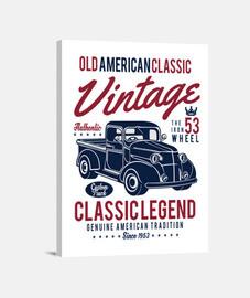 Lienzo Retro Camioneta Vintage 1953 USA Old American Classic