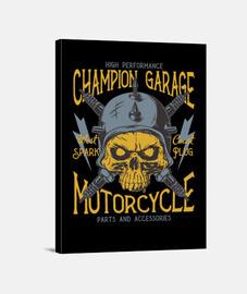 Lienzo Retro Garage Bikers Motorcycle Garage