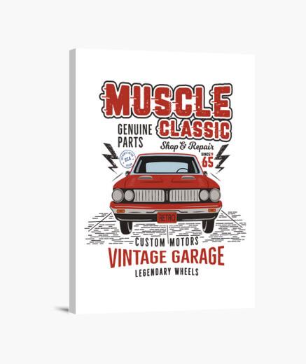 Lienzo Retro Muscle Car Vintage 1965 Garage