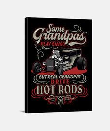 Lienzo Retro Regalo Para Abuelos Rockeros Vintage Hotrod USA Rock and Roll