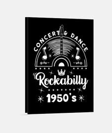 Lienzo Retro Rockabilly Music 1950s Rock and Roll USA Rockers