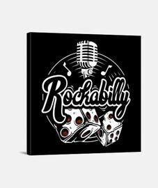 Lienzo Retro Rockabilly Music Vintage Rock and Roll USA Rockers