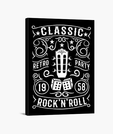 Lienzo Rock N Roll Rockabilly Retro Classic 1958 Sock Hop Dance
