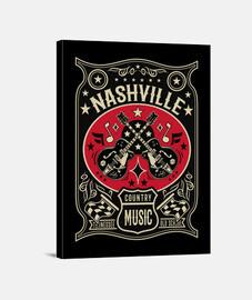 Lienzo Rockabilly Country Music Nashville Tennessee USA