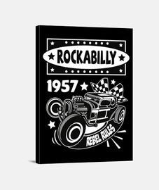 Lienzo Rockabilly Music Hotrod Vintage USA Rock and Roll