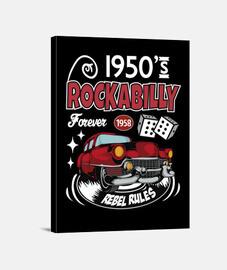 Lienzo Rockabilly Music Rockers Vintage Rock USA Rock and Roll