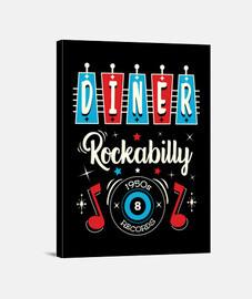 Lienzo Rockabilly Music Vintage Rock Music USA Rockers